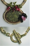 3D RAW Necklace with Green Brecciated Jasper Cabochon details