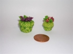 Tiny boxes. Larger box is 20mm wide x 20mm high including flowers. Smaller box is 15mm wide x 20mm high (including flowe