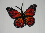 3D Monarch Butterfly. Czech true cut 15/0 seed beads. Widest point is 2 1/4'. I modified a Karole Conaway's pattern by