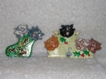 Polymer Clay Cats. Magnet and wall hanging. 1996