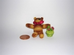 Knitted Tiny Teddy Bear.