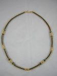 Delicas, Czech firepolished rondelles Bali 24K Vermeil beads, spacers and clasp. My variation of a Deb Moffett Hall's p