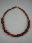 Vintage red/white core German seed beads,Japanese size 15/0 bronze seed beads, Czech gold plated true cut size 11/0.  My