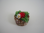 Tropical Beaded Box.  Delicas, size 15/0 Japanese and Czech seed beads.  The white flower is a variation of Laurie's pl