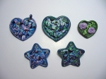 Polymer Clay Brooches. 1996