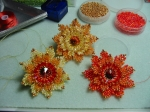 Set of orange/yellow flowers I made for Frany