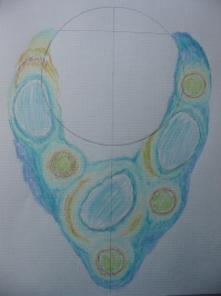 Atolls necklace sketch