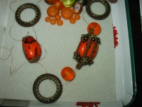 Orange Tagua Nuts Necklace days 3 to 6